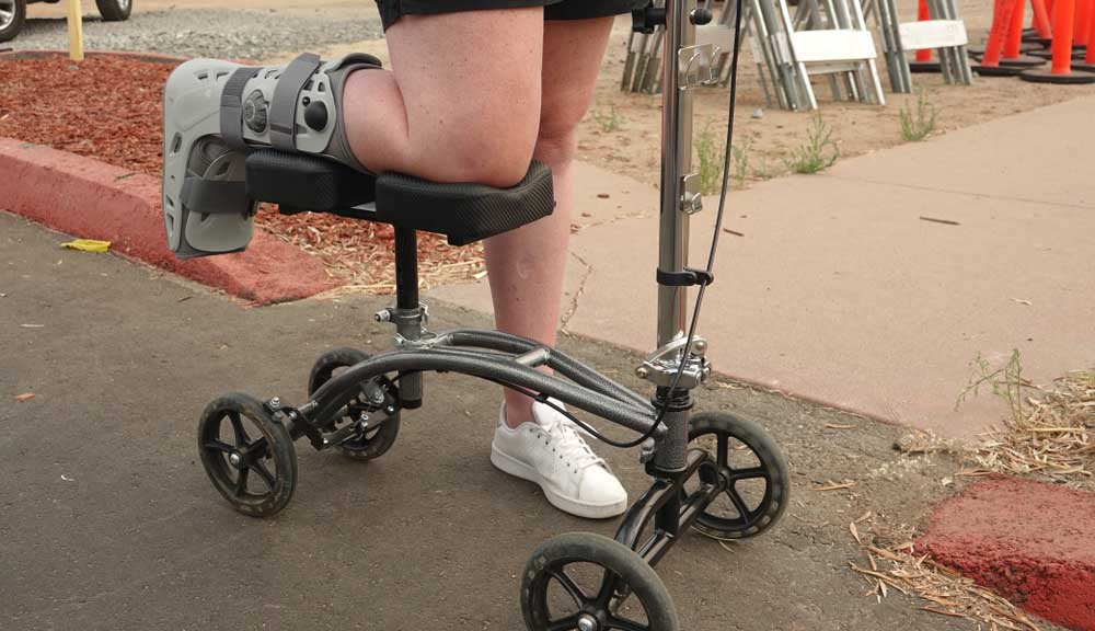 How to Make a Knee Scooter More Comfortable